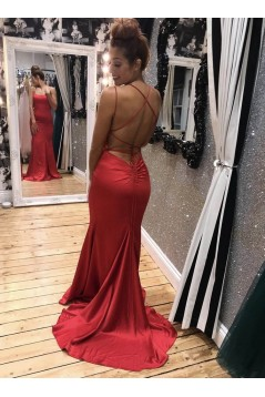 Mermaid Long Red Prom Dresses Formal Evening Gowns 6011003