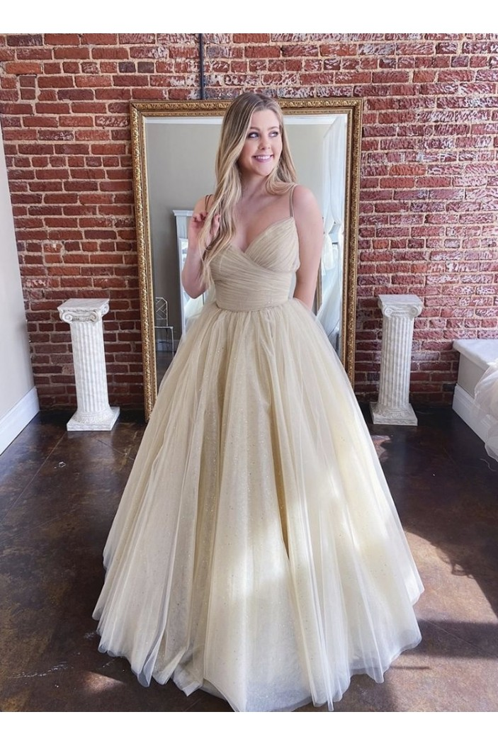Ball Gown Tulle Long Prom Dresses Formal Evening Gowns 6011006