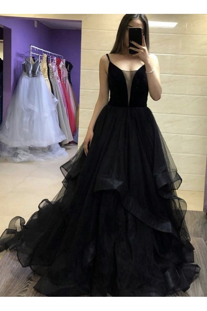 Long Black Prom Dresses Formal Evening Gowns 6011008