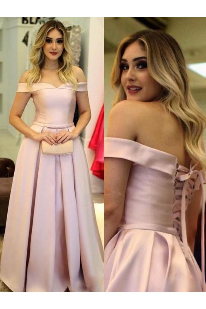 A-Line Off-the-Shoulder Long Prom Dresses Formal Evening Gowns 6011065