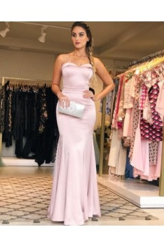 Mermaid Spaghetti Straps Long Prom Dresses Formal Evening Gowns 6011066