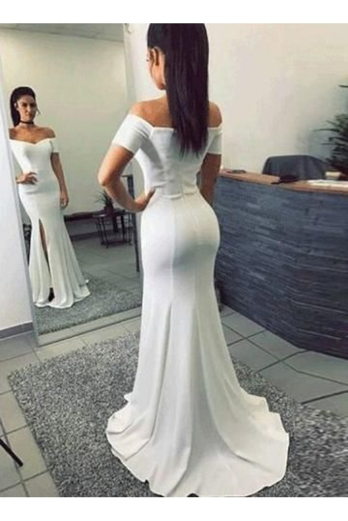 Mermaid Off-the-Shoulder Long Prom Dresses Formal Evening Gowns 6011070