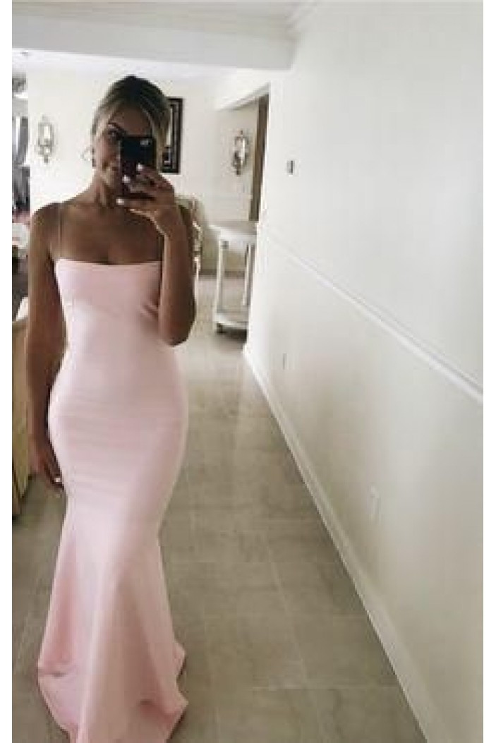 Long Pink Simple Prom Dresses Formal Evening Gowns 6011076