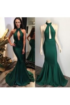 Mermaid Long Green Prom Dresses Formal Evening Gowns 6011091