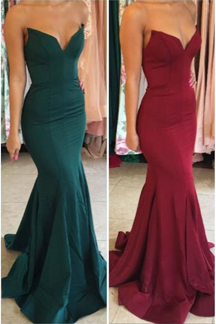 Mermaid Sweetheart Long Prom Dresses Formal Evening Gowns 6011092