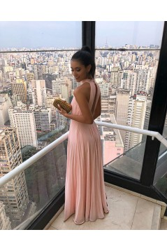 A-Line Chiffon Long Prom Dresses Formal Evening Gowns 6011094