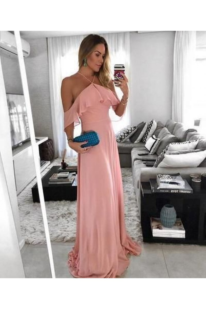 A-Line Chiffon Long Prom Dresses Formal Evening Gowns 6011096