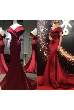 Mermaid Off-the-Shoulder Long Prom Dresses Formal Evening Gowns 6011105