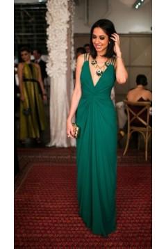 Sheath/Column Chiffon Long Prom Dresses Formal Evening Gowns 6011118