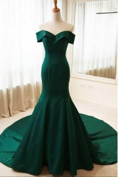 Mermaid Off-the-Shoulder Long Prom Dresses Formal Evening Gowns 6011128