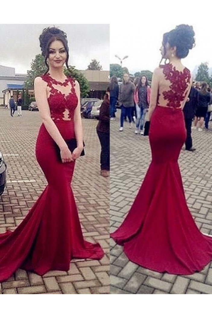 Mermaid Lace Long Prom Evening Dresses Wedding Party Gowns 6011130