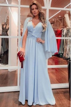 A-Line Chiffon Long Prom Dresses Formal Evening Gowns 6011135