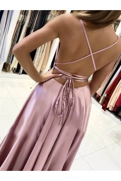 A-Line Spaghetti Straps Long Prom Dresses Formal Evening Gowns 6011147