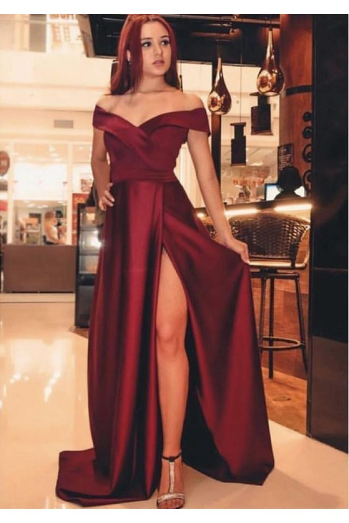 A-Line Off-the-Shoulder Long Prom Dresses Formal Evening Gowns 6011148
