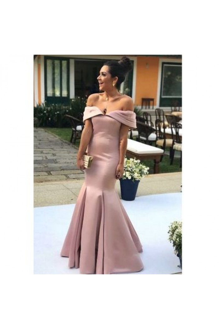Mermaid Off-the-Shoulder Long Prom Dresses Formal Evening Gowns 6011169
