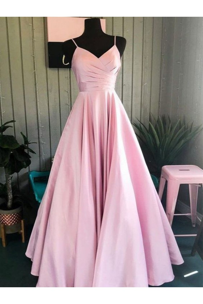 A-Line V-Neck Long Prom Dresses Formal Evening Gowns 6011175