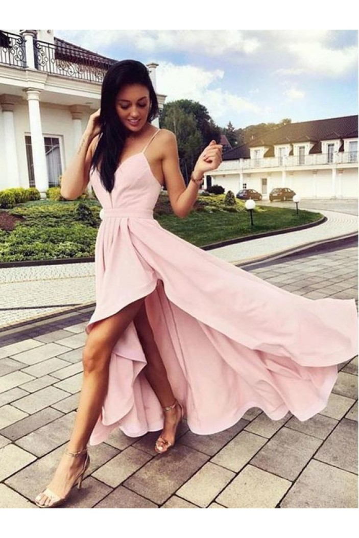A-Line Asymmetrical Long Prom Dresses Formal Evening Gowns 6011184