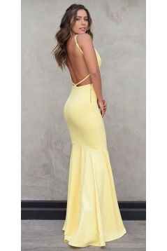 Mermaid Long Yellow Prom Dresses Formal Evening Gowns 6011195