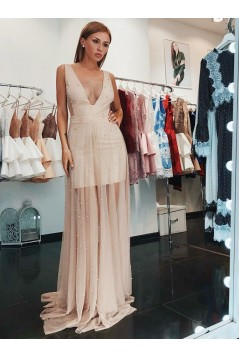 Beaded Long Prom Dresses Formal Evening Gowns 6011229