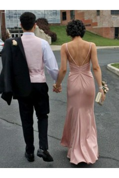 Sheath V-Neck Long Prom Dresses Formal Evening Gowns 6011247