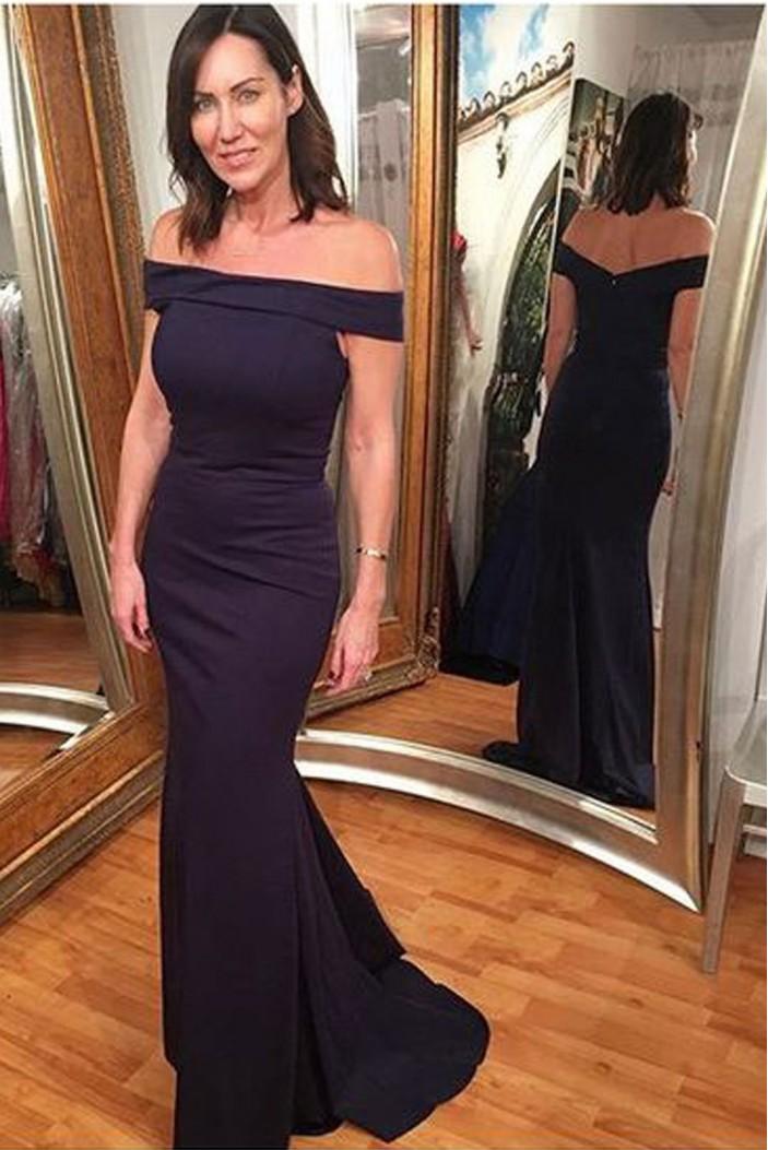 Elegant Mermaid Off-the-Shoulder Long Formal Evening Dresses Party Gowns 6011252