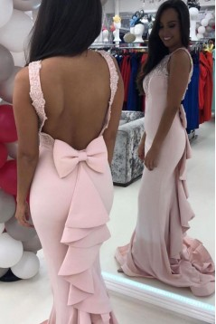Mermaid Beaded Lace Long Prom Dresses Formal Evening Gowns 6011259