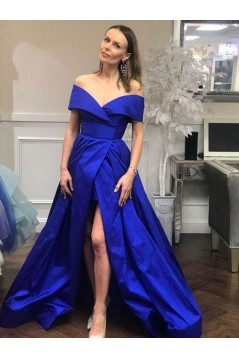 A-Line Off-the-Shoulder Long Prom Dresses Formal Evening Gowns 6011261