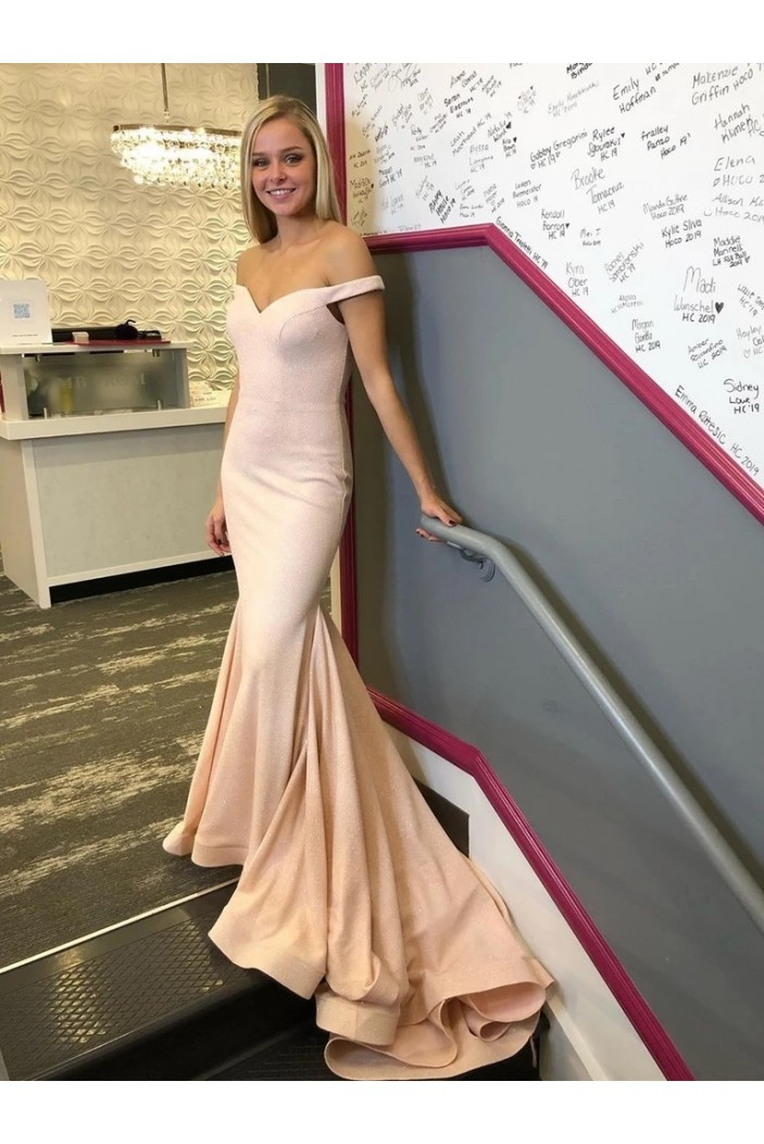 Mermaid Off-the-Shoulder Long Prom Dresses Formal Evening Gowns 6011283