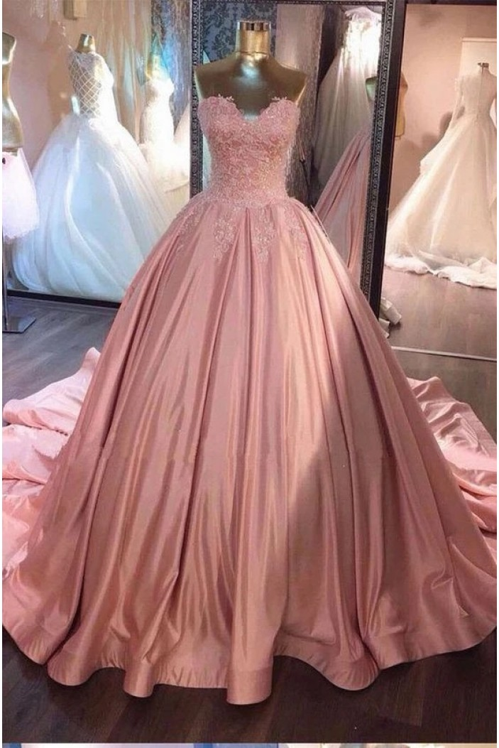Ball Gown Beaded Lace Appliques Long Prom Dresses Formal Evening Gowns 6011316