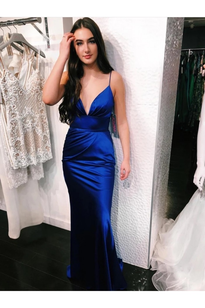 Long Royal Blue Mermaid Prom Dresses Formal Evening Gowns 6011323