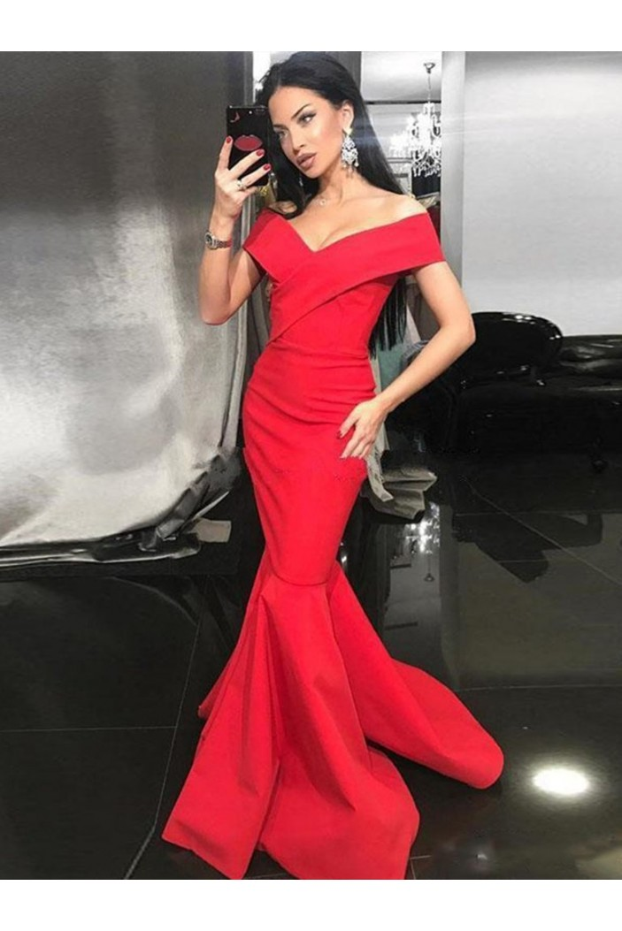Mermaid Off-the-Shoulder Long Prom Dresses Formal Evening Gowns 6011327