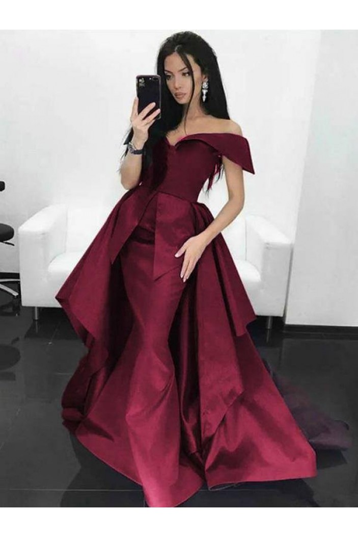 Mermaid Off-the-Shoulder Long Prom Dresses Formal Evening Gowns 6011336