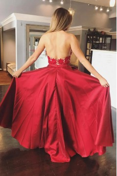 A-Line Lace Long Prom Dresses Formal Evening Gowns 6011344