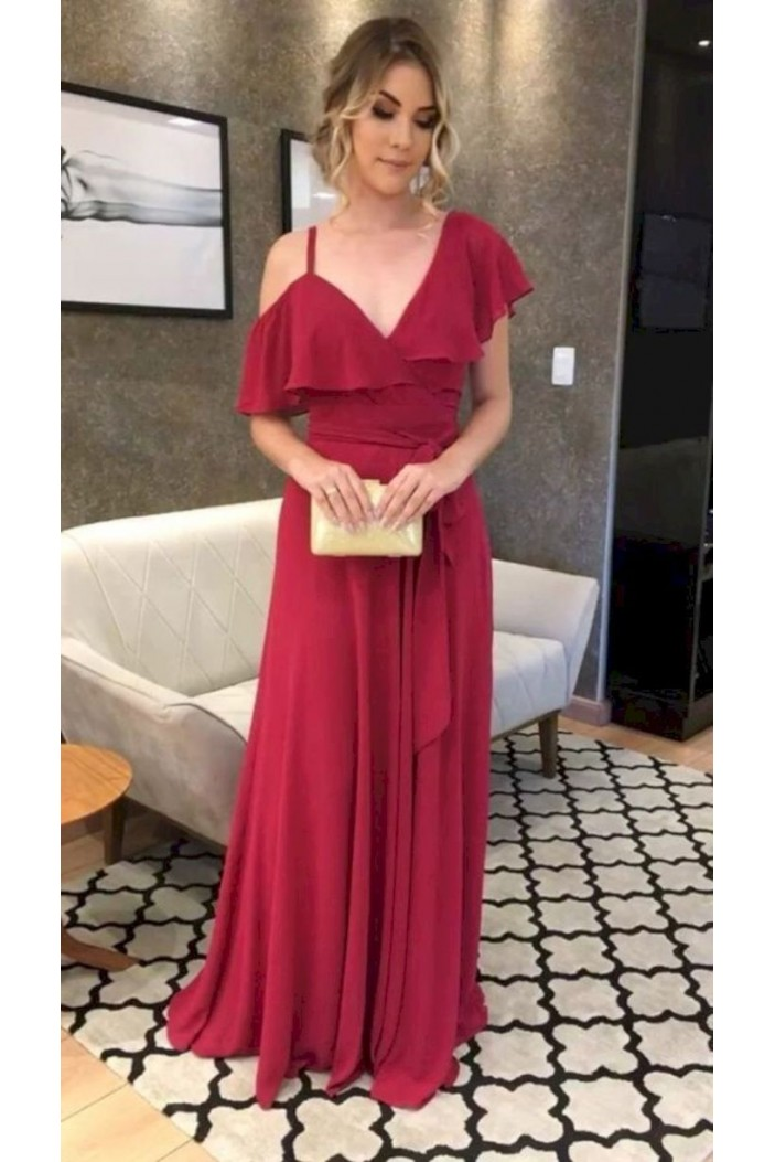 A-Line Chiffon Long Prom Dresses Formal Evening Gowns 6011347