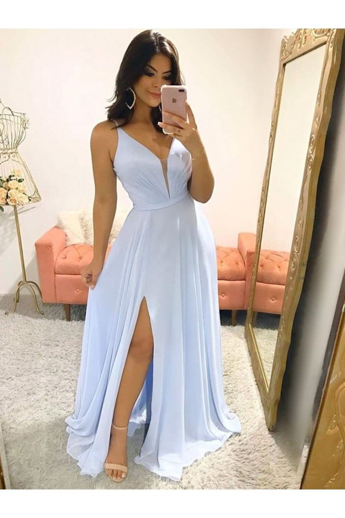 A-Line Chiffon Long Prom Dresses Formal Evening Gowns 6011430