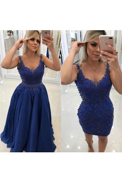 A-Line Beaded Lace Long Prom Dresses Formal Evening Gowns 6011450