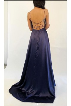 Sexy Long V-Neck Prom Dresses Formal Evening Gowns 6011461