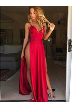 Sexy Long V-Neck Prom Dresses Formal Evening Gowns 6011462