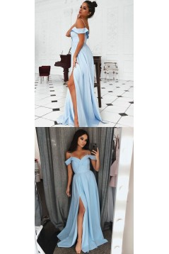 A-Line Off-the-Shoulder Long Prom Dresses Formal Evening Gowns 6011467
