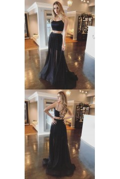 Long Black Two Pieces Prom Dresses Formal Evening Gowns 6011473