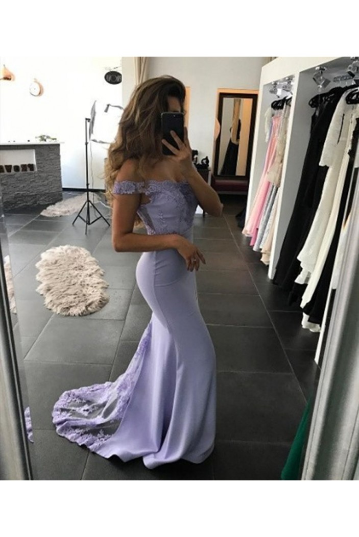 Mermaid Lace Long Prom Dresses Formal Evening Gowns 6011485
