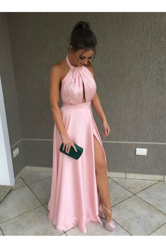 A-Line Long Pink Prom Dresses Formal Evening Gowns 6011486