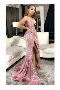 Mermaid Sequins Long Prom Dresses Formal Evening Gowns 6011494