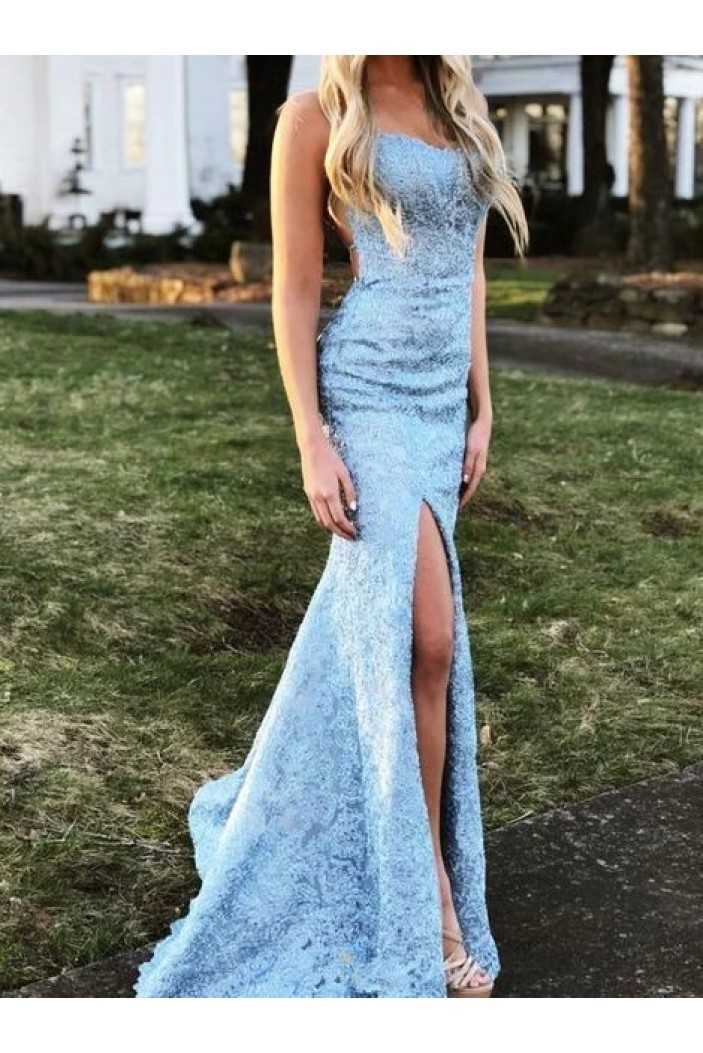 Mermaid Lace Long Prom Dresses Formal Evening Gowns 6011515