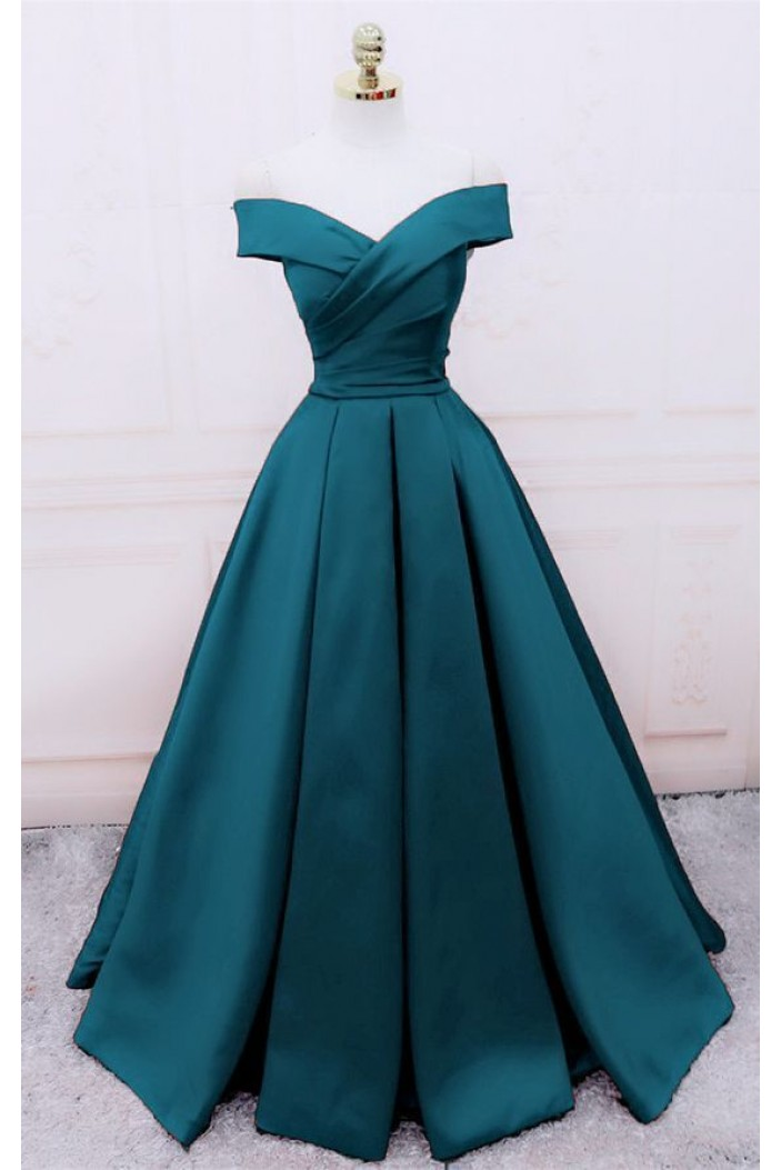 A-Line Off-the-Shoulder Long Prom Dresses Formal Evening Gowns 6011517