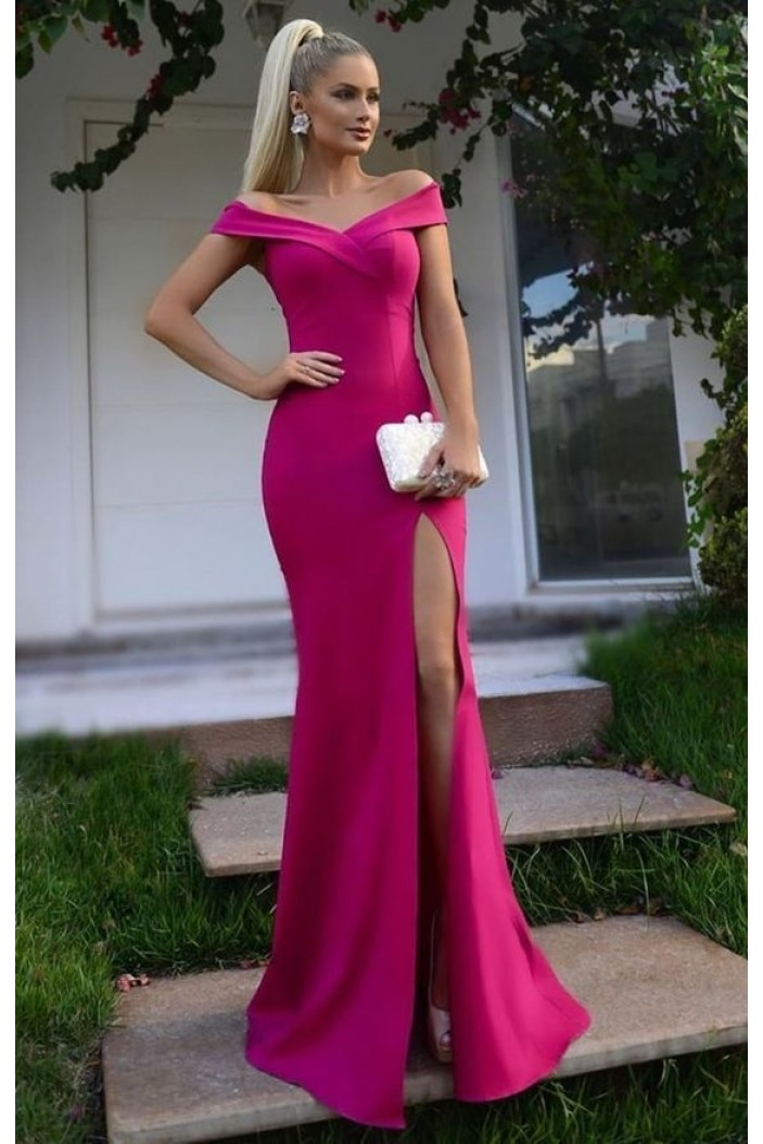 Mermaid Off-the-Shoulder Long Prom Dresses Formal Evening Gowns 6011518