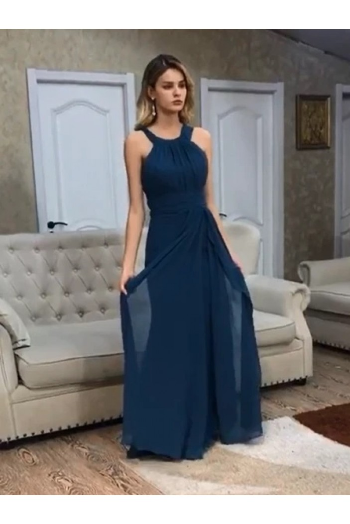 A-Line Chiffon Long Prom Dresses Formal Evening Gowns 6011523