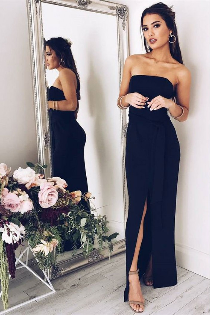 Simple Long Strapless Prom Dresses Formal Evening Gowns 6011527