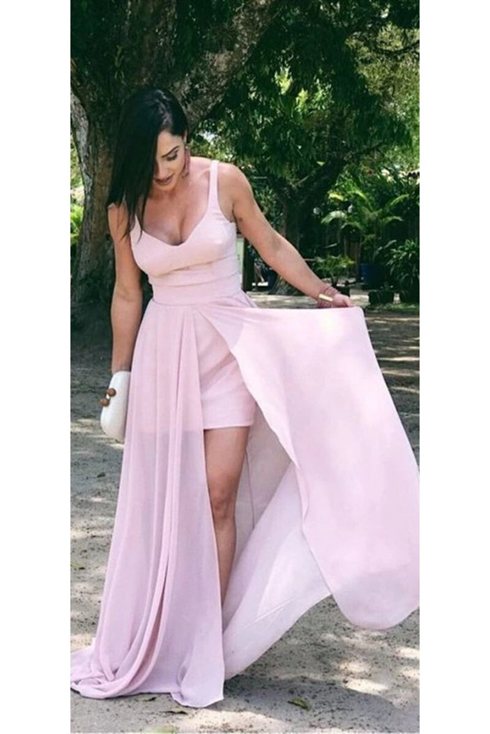 A-Line Long Pink Prom Dresses Formal Evening Gowns 6011532
