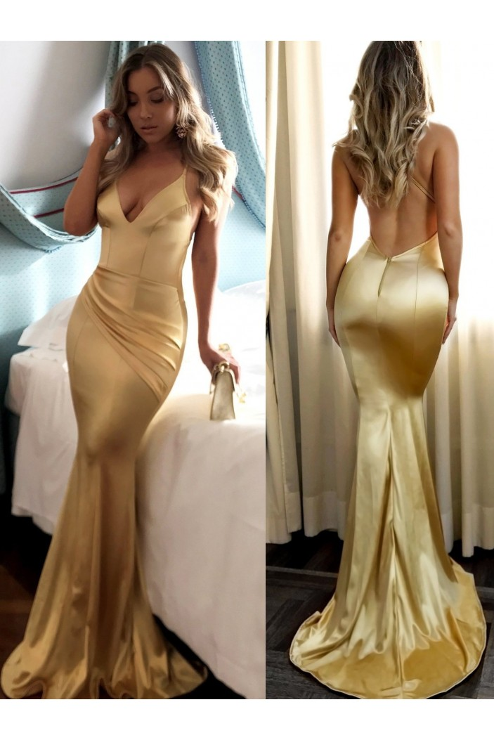 Mermaid Long Prom Dresses Formal Evening Gowns 6011536